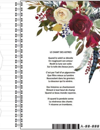 Carnet de notes Isalou Poésie